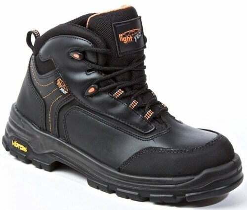 Metal Free Light Year Safety Boots S3 HRO SRC Black UK 5 Leather Safety Shoes