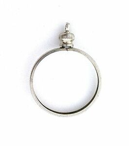 1-QUARTER-25-CENT-SILVER-COLOR-COIN-HOLDER-PENDANT-MOUNTING-MOUNT-FINDING-CF263