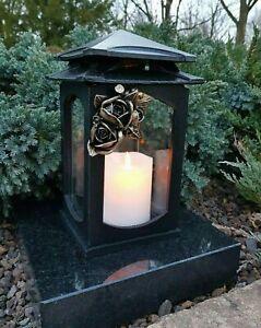 ** Grablaterne Sockel Grablampe Lampe Grableuchte Grablicht Grabschmuck Kerze