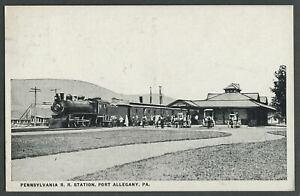Port-Allegany-PA-c-1910s-20s-Postcard-PENNSYLVANIA-RAILROAD-R-R-STATION