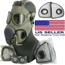 Full Face Military M10m Nbc Gas Mask Respirator Drinking Tube Extra X2 Filters