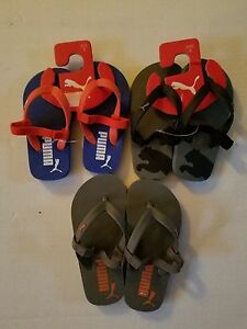Puma Toddler Boys Sandals Slip Ons Size