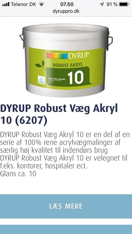 Væg-loft maling, Dyrup, 10 liter