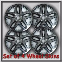 4 Chrome With Black 17 Wheel Skins Hubcaps 2015-2016 Ford Fusion Wheel Covers