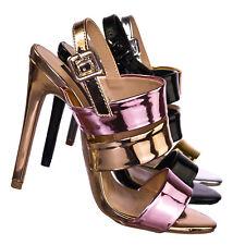 9ece3bedaf Carmela84 High Heel Stiletto Slingback Dress Sandals - Women Strappy Open  Toe
