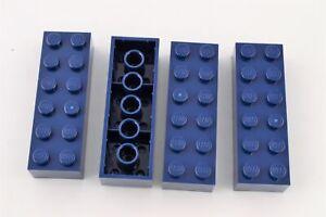 LEGO Lot of 4 Black 2x6 Bricks