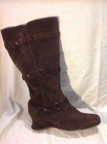 Boots Size Dark High Suede Brown Knee Essence 7 Pk0nOX8w