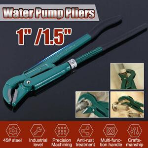 1-039-039-1-5-039-039-Wasserpumpenzange-Kopf-poliert-Kit-Eckrohrzange-Klempner-Rohrzange-Sa