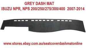 GREY DASH MAT, DASHMAT  FIT ISUZU,NPR, NPS 200/250/275/30<wbr/>0/400  2007-2014