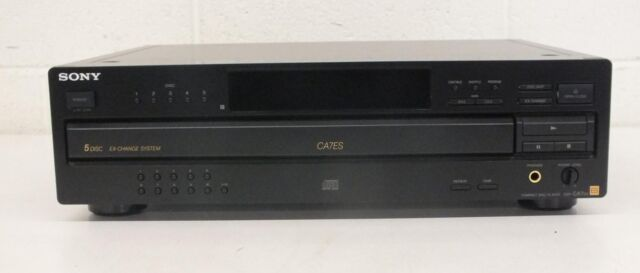 Sony CDP-CA7ES Elevated Standards 5-Disc Carousel CD Changer NO REMOTE GREAT