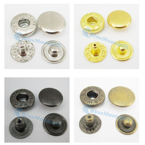 """12mm 1//2/"""" Leather craft Rapid Rivet Button METAL Snaps Fasteners 20 50 100 sets"""