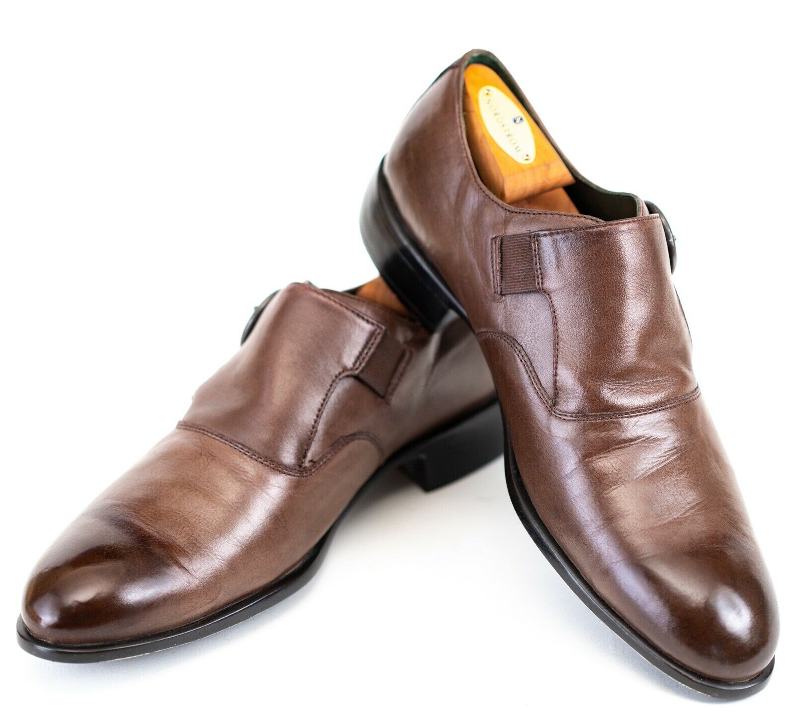 Kenneth Cole 9M Brown Buckle Shoes Burnished Coloring