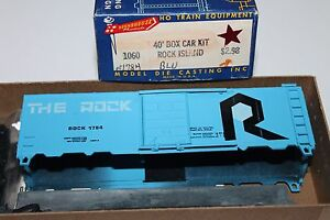 HO-Scale-Roundhouse-1060-Rock-Island-40-039-Single-Door-Boxcar-Kit-1784-Y1375