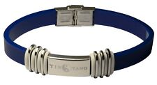 YIN YANG NEGATIVE ION PERFORMANCE BRACELET BLUE W/ WHITE