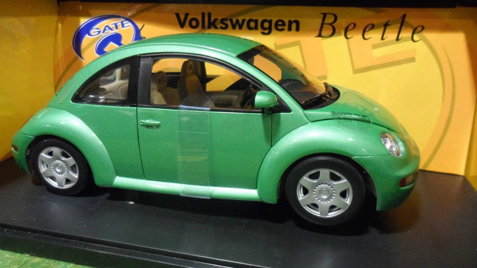 Volkswagen nouveau beetle vert 1 18 gate 01032  voiture miniature ladybug collect.  livraison gratuite et rapide disponible