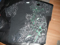 Not Affliction Elite Mma Official T-shirt With Green Metalic Print Size Large