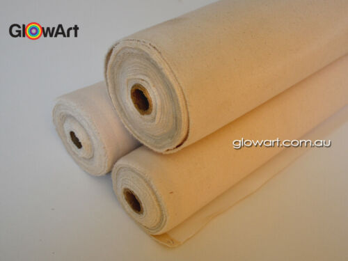 182 cm 11 oz TRIPLE PRIMED 100/% COTTON CANVAS ROLL  490 GSM 72 /""