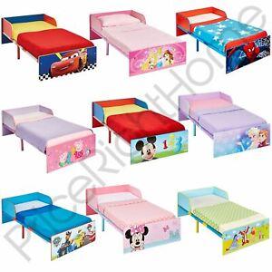 KIDS CHARACTER TODDLER BEDS - BOYS GIRLS BEDROOM DISNEY