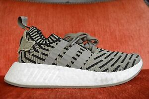 80ff56b9ab30e Adidas NMD R2 PK Trace Cargo Olive Green Black White Size 6 BA7198 ...