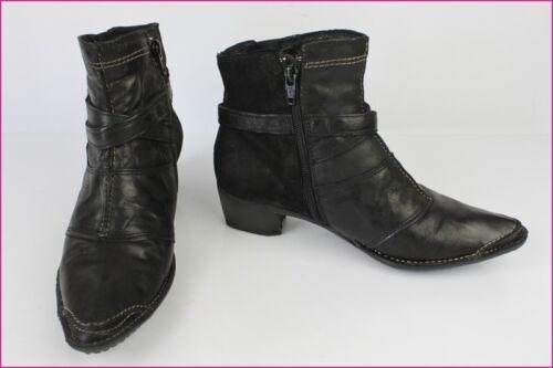 Et Daim T Noir Bottines Cuir Tbe 36 Boots Texto RTaqwft