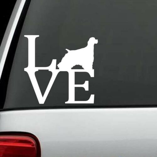 B1074 Cocker Spaniel LOVE Dog Decal Sticker Car Truck SUV Van Laptop Collar Wall