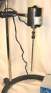 Electric-overhead-stirrer-mixer-variable-speed-100W-Free-PTFE-shaft-New