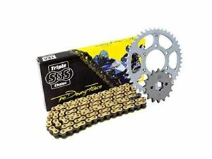 Triple-S-525-O-Ring-Chain-and-Sprocket-Kit-Gold-Yamaha-MT09-XSR900-16-2014-16