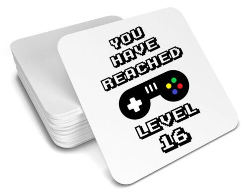 16th birthday coaster//gaming gift//gamer//gift for him//men//her//women//level up gift