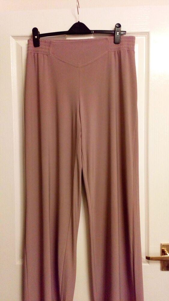 """Le Meilleur Nina Leonard Medium/large Pantalon Jambe Large Taille 34"""" Long 32"""" à L'intérieur De La Jambe Dans La Douleur"""