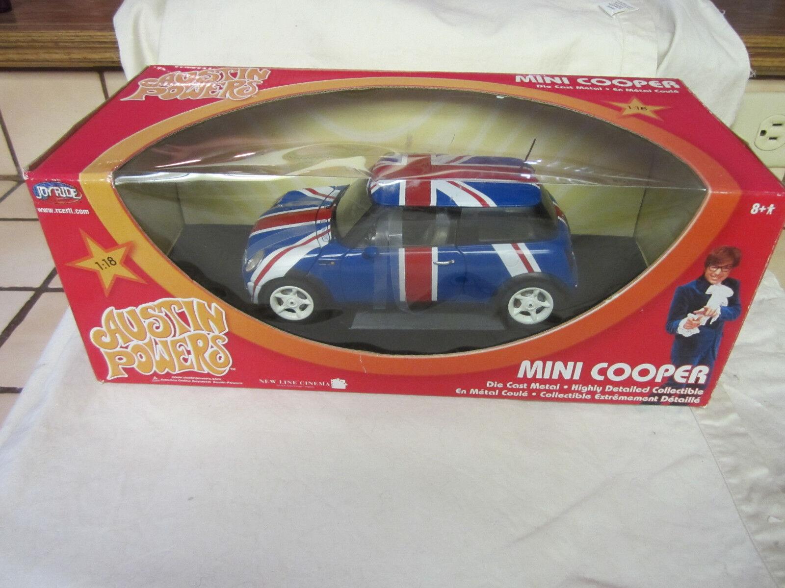 Austin - powers - mini cooper 1,18 skala druckguss - neues auto