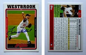 Jake-Westbrook-Signed-2005-Topps-536-Card-Cleveland-Indians-Auto-Autograph