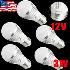 New 5x Ultra Bright White 3W 12V E27 E26 Home LED RV Energy Saving Bulb Lights