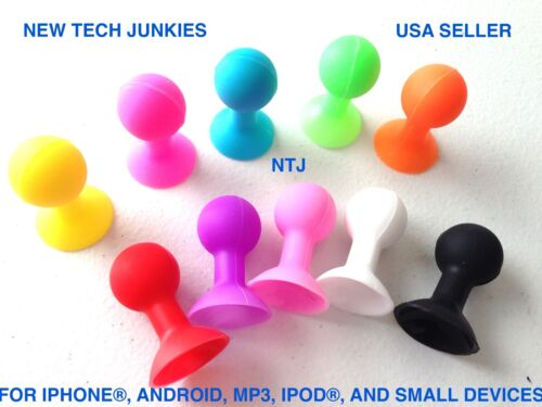 COLOR SUCTION CUP phone stand holder mount for iphone X 8 7 4s 5 galaxy s7 ipod