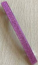 A Pinky Red Shimmer Mother Of Pearl Finish Oval Barrette Hair Clip