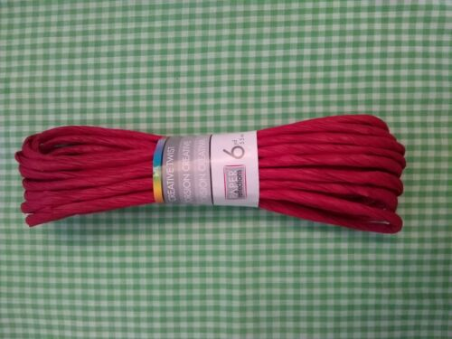 Red Creative Twist Paper Cord 6 Yards FREE SHIPPING Craft Twists Ribbon