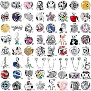 Sterling-New-European-S925-Silver-Charms-Beads-Pendant-Fit-Bracelet-Chain-Bangle