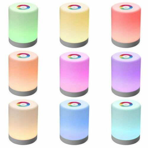 Touch Control LED Night Light Chargeable Bedside Table Dimmable Colour Lamps NEW