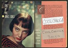 1957 TV ARTICLE~CAROLYN JONES is MORTICIA ADDAMS on the ADDAMS FAMILY SERIES