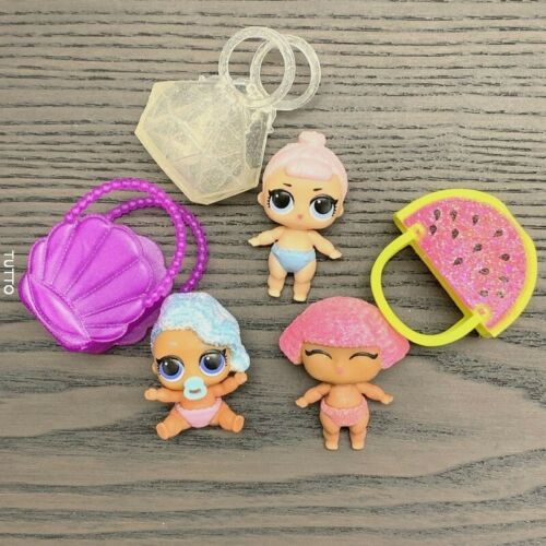 Lot 3 LOL Surprise LiL Sisters SPLASH /& Crystal /& GLITTER QUEEN CLUB dolls Gifts