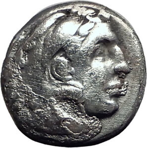 ALEXANDER-III-the-GREAT-323BC-Authentic-Ancient-Silver-Greek-Coin-w-Zeus-i64696