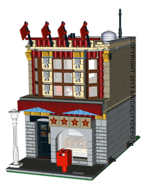 Lego Custom Modular Building Comedy Club Instructions Only 10211