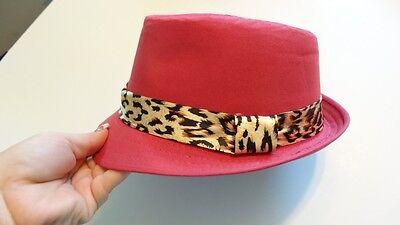 pink cheetah rock fedora hat boys girls toddler child infant-6 yrs