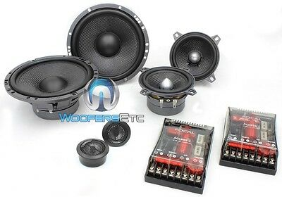 "OPEN BOX FOCAL 165A3-SG 6.5"" + 4"" 160W RMS 3-WAY ACCESS COMPONENT SPEAKERS MIDS"