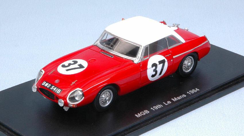 MGB hardtop th LM 1964 p. Hopkirk a. Hedges 1 43 Model s5078 Spark Model