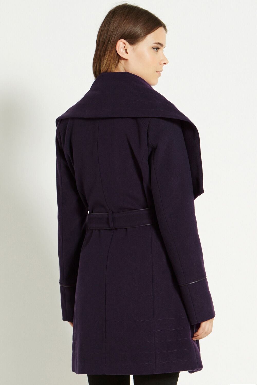 Oasis Stitch Detail Formal Drape Drape Drape Coat b74add