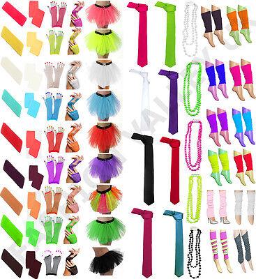 Unisex Printed Rainbow Dress T-Shirt Tie Socks Braces Fancy Dress Accessorie