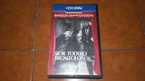 CINTA-DE-V-DEO-VHS-BASEGGIO-INTERPRETA-GOLDONI-SIEUR-TODERO-BRONTOLON-RAI-TEATRO