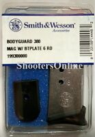 Factory Smith And Wesson Magazine S&w Bodyguard 380 Acp 6 Rd Mag Stainless