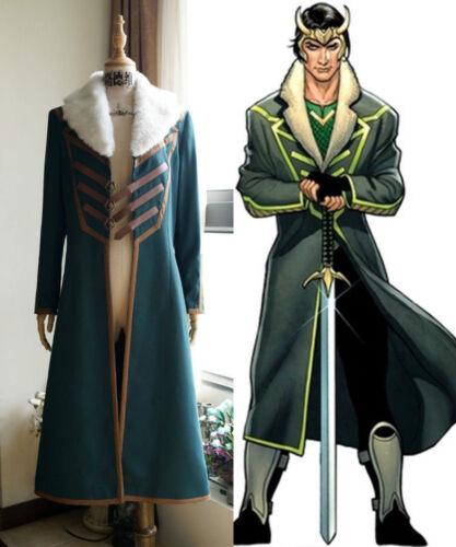Hot Loki Agent of Asgard Cosplay Loki Jackets Uniforms Coat Costume custom made