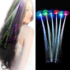 Xmas Light-up Fiber Optic Led Multicolor Hair Lights Rave Party Hair Decor